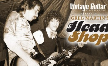 Toys For Tots and Dreams Psychedelic Realized Vintage Guitar magazine Presents Greg Martin's Head Shop