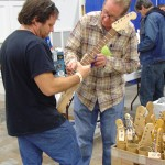 Roger Kincaid Parts with customer.
