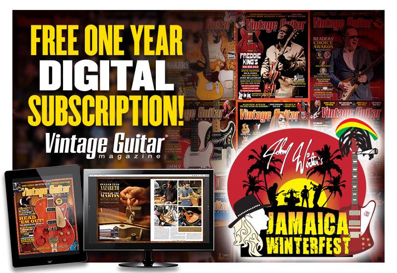 "Johnny Winter's Jamaica ""Winterfest"" Vintage Guitar magazine"