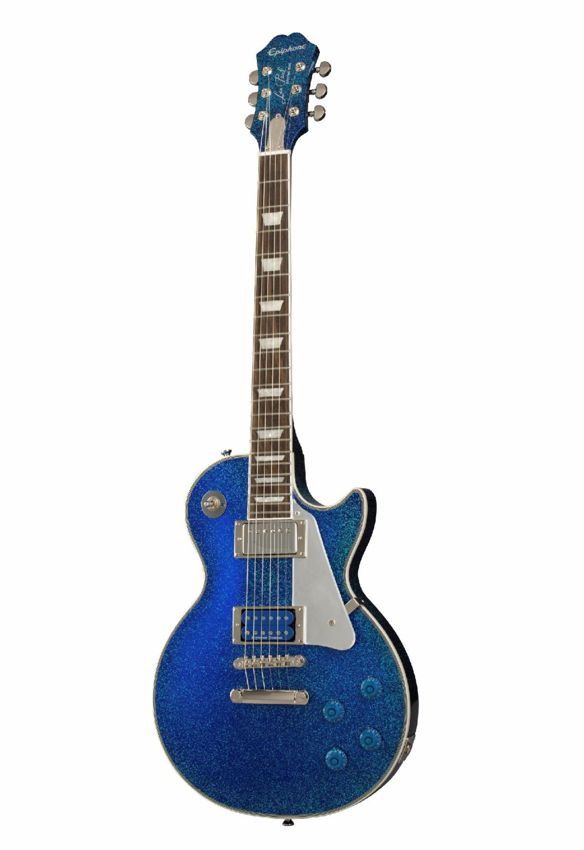 epiphone announces worldwide release of tommy thayer electric blue les paul outfit vintage. Black Bedroom Furniture Sets. Home Design Ideas