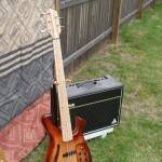 Bass guitar I designed and built